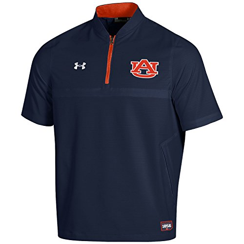 Under Armour NCAA Auburn Tigers Adult Men NCAA Men's Sideline Cage Jacket, Large, Navy