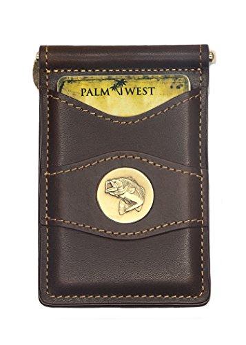Palm West 225MBASS-A Men's Best Premium Leather Minimalist Money Wallet, RFID Blocker