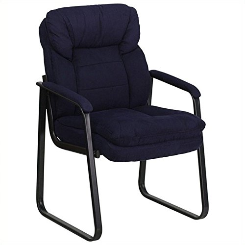 Scranton & Co Executive Side Guest Chair with Sled Base in Navy