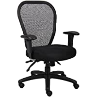 Boss Office Products B6008 Mesh Task Chair with 3 Paddle Mechanism in Black