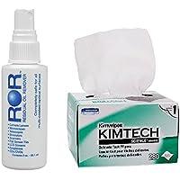 ROR Lens Cleaner 2 oz Bottle & Kimtech Science Wipes (Box of 280)