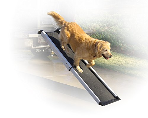Solvit PetSafe Mr. Herzher's Smart Ramp, Telescopes from 41.5 in. - 70 in, Portable Lightweight Dog and Cat Ramp.