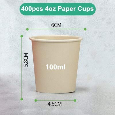 (Best Quality - Disposable Party Tableware - Disposable Eco-Friendly Hot Coffee Bamboo Pulp Drinking Paper Cups Assorted Capacity Soya Bean Milk Cup No Lid - by PPL88-1 PCs)