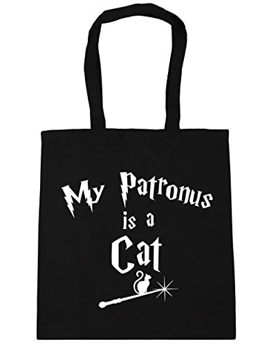 Gym 10 Shopping 42cm litres Bag HippoWarehouse Tote My Patronus Is A Cat Black Beach x38cm xF0wpATq