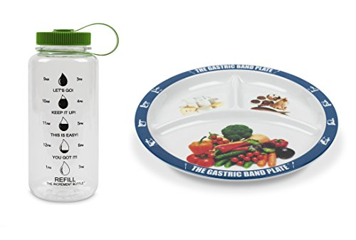 - The Gastric Band Plate Increment Bottle Green Summit Beaker Diet Slimming Weight Loss Set