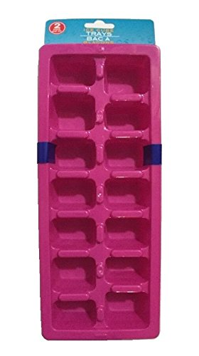 Investment Nested Plastic Ice Cube Tray Easy Release - 2 pack ( Red ) occupation