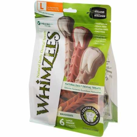 Whimzees Toothbrush Dental Dog Treats Large (6 Count)