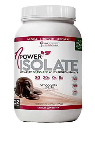 nPower Nutrition 100 Pure Grass Fed Whey Protein Isolate, Enzymes, All Natural Sweeteners Chocolate Truffle 32 Servings