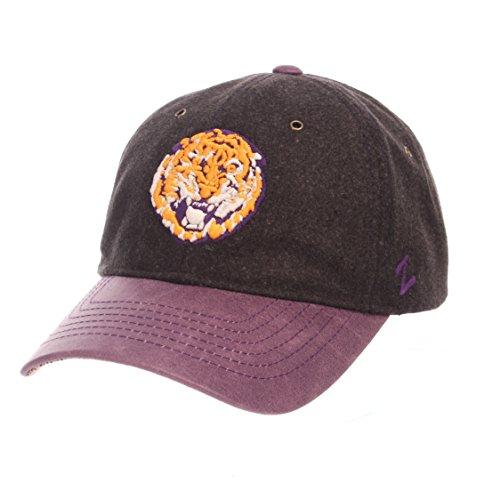 NCAA LSU Tigers Adult Men Alum Heritage Collection Hat, Adjustable, Heather Gray