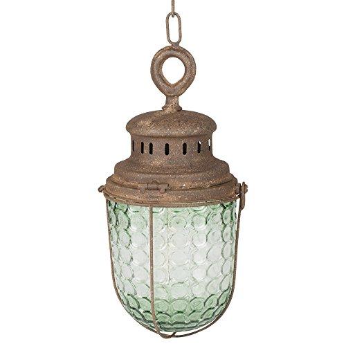 OSW Vintage Decorative Acorn Clear Glass 16.5 x 5.5 inch Hanging Lantern