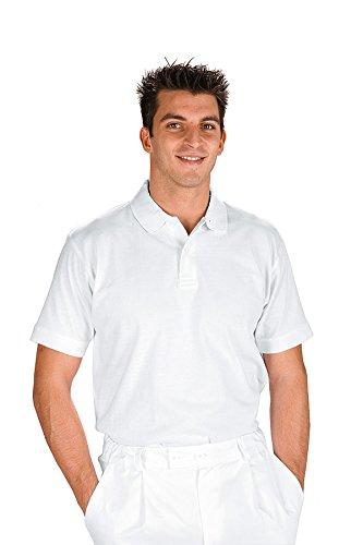 Isacco-Polo de manga corta de color blanco