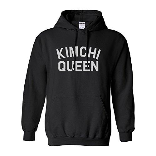 Kimchi Queen Food Pullover Hoodie Black - Kimchi Queen