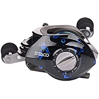 TY Hiumi Baitcasting Fishing Reel 131 Ball Bearings Casting Reel Magnetic Braking System Baitcaster with Stainless Ball Bearings Reel