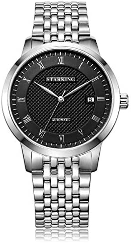 STARKING Top Brand Luxury Automatic Mens Wrist Watch AM0187 Leather Watch Men Casual Style Fashion Waterproof Watches Scratch Proof Male