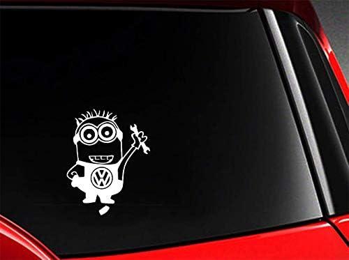 Pink Auto Aufkleber Minion Worker Auto Aufkleber Decal Wag Lustige Auto Dope Stoßstange Fenster Styling Grafiken Für Auto Laptop Fenster Aufkleber Baumarkt