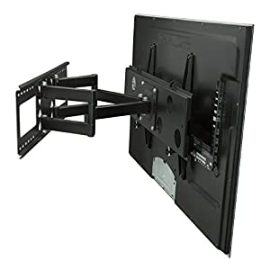"Mount-It! Articulating TV Wall Mount for 32"" – 65"" LCD/LED/Plasma Flat Screen TVs, Articulating Full Motion, 165 Lbs Capacity, Black (MI-2291)"
