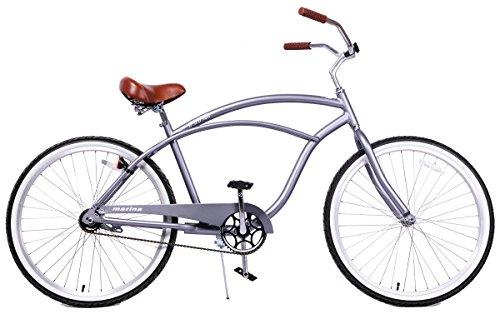 Fito Men's Marina 2.0 Aluminum Alloy 1 Speed Beach Cruiser Bike, Grey, 18