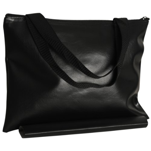 Black Leatherette Chess - Wood Expressions WE Games Black Leatherette Chess Bag - 12 in.