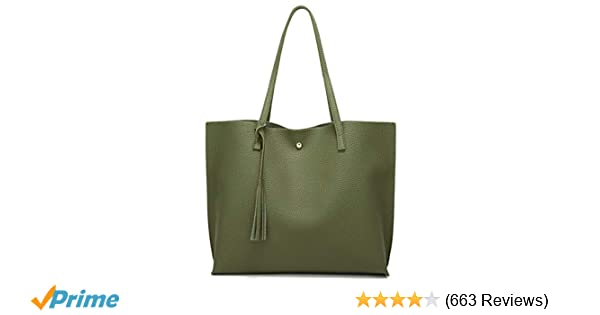Amazon.com  Women s Soft Leather Tote Shoulder Bag from Dreubea ed02cd688818a