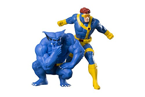 Kotobukiya Marvel Universe Cyclops & Beast Two Pack Artfx Collectible Statue ()