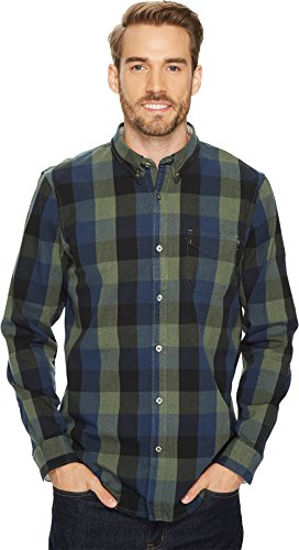 Timberland Long Sleeve Plaid (Timberland Men's Back River Brushed Oxford Check Shirt, Green Gables, Medium)