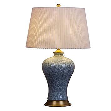 Wcui Retro Kupfer Knistern Keramik Schreibtisch Lampe Schlafzimmer