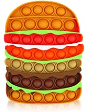 Jasilon [Newest Design] [UPGRAED Material] Push Pop Bubble Fidget Sensory Toy Autism Special Needs Silicone Stress Reliever Toy Anti-Anxiety Squeeze Sensory Toy for Kids Adults (Hamburger)