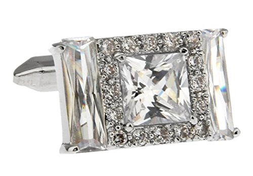 - MRCUFF Crystals Multiple Rectangle & Square Pair Cufflinks in a Presentation Gift Box & Polishing Cloth