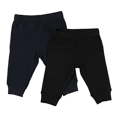 Leveret Baby Legging 2 Pack Navy & Black 3 (Infant Black Pants)
