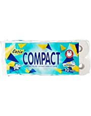 Cutie Compact 100% pulp Bathroom Tissue, (Pack of 10),Green