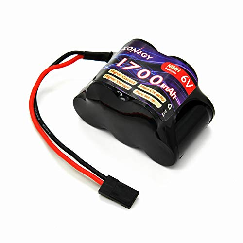 (Fconegy NiMH Battery Receiver Battery Pack 6.0V 1700mAh 5-Cell Hump Pack with BBL2 Plug for RC Transmitter and)