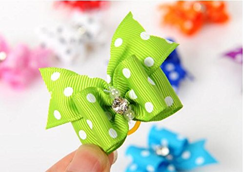 20 Pcs Pet Grooming Hair Bow Ribbon Gift Headdress Flower Hair Accessories for Dog Cat Puppy by Gozier (Image #6)