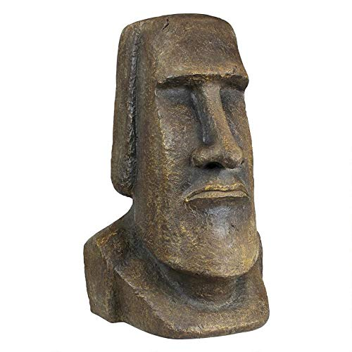 Design Toscano Easter Island Ahu Akivi Moai Monolith Garden Statue, Extra Large, 32 Inch, Polyresin, Grey Stone (Restaurants Near Patio Me Outdoor)
