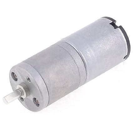 DealMux 12VDC 10rpm 4 milímetros Shaft Dia redutor de velocidade do motor elétrico Voltada