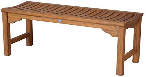 Teak Santa Monica Backless Bench 6 Foot Made By Chic Teak 4' Backless Teak Bench