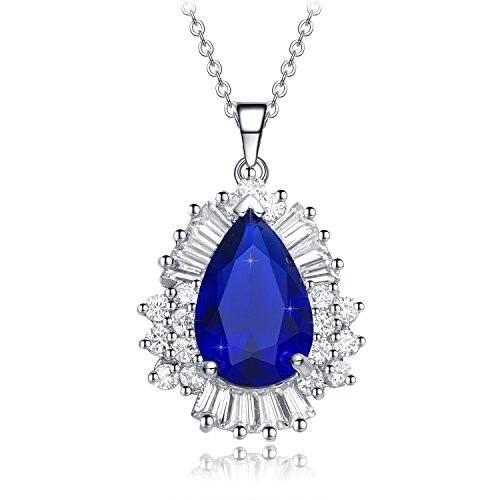 Christmas Gifts for Women NEEMODA Sapphire Blue Pendant Necklace