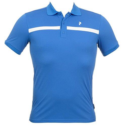 Peak Performance Men's Gailes Polo; color:Hero Blue; size:L