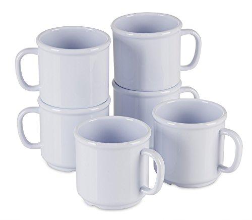 6-Pack-Set-SAN-Plastic-Hot-Beverage-Mug-White-10-Ounce