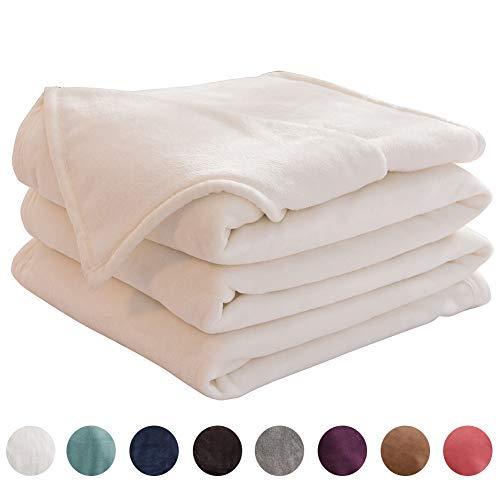 LIANLAM Queen Size Fleece Blanket Lightweight Super Soft and All