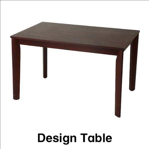 カントリー調デザインのダイニングテーブル ブラウン 幅120 ブラウン B00JEVB3IO