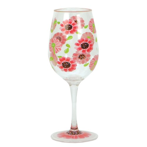 Lolita Love My Party of Two Ooops-A-Daisy 16-Ounce Acrylic Wine Glasses, Set of - Wine Daisy