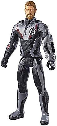 Boneco Titan Hero Thor 2.0, Avengers, Branco/Preto