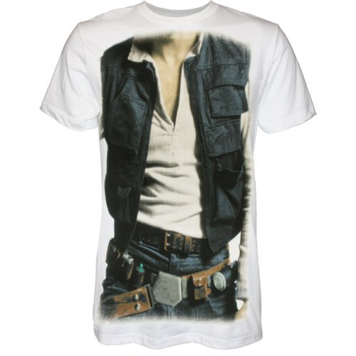 Han Solo Shirt Costume (Star Wars Han Solo Men's Costume T-Shirt, XX-Large)