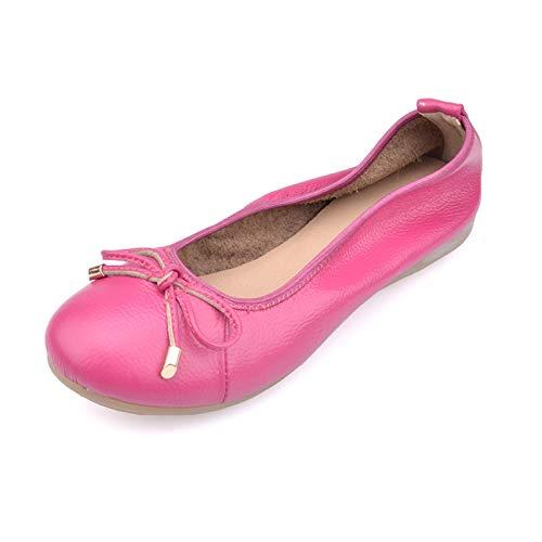 Maternidad Zapatos FLYRCX Zapatos Zapatos Zapatos cómodos Damas Fondo de Casual Cuero de Trabajo Antideslizantes de C Ballet de Oficina de de Planos Moda Suave de 1wwxrqRv