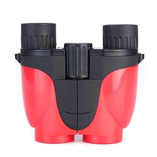 MPEN 10X Mini Jumelles Compact, poche pliante étanche télescope binoculaire léger, w/Carry Case pour adulte, enfants, enfants, observation des oiseaux (Couleur : Rouge)
