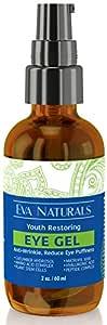 Eva Naturals Eye Gel - Best Firming Eye Cream Treatment for Dark Circles, Puffy Eyes, Crow's Feet Wrinkles & Fine Lines
