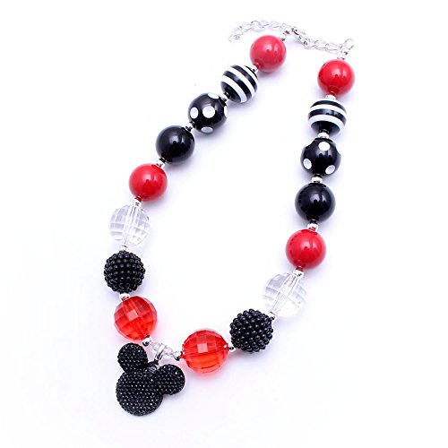 Mickey Mouse bubble gum bead safety necklace