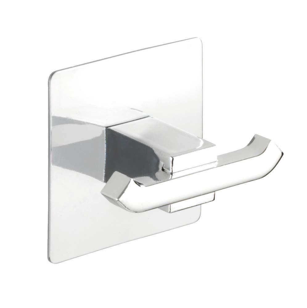 Acier inoxydable 6,5 x 6,5 x 3,5 cm Wenko 23846100 Turbo-Loc Cochet Mural Duo Quadro Chrom/é