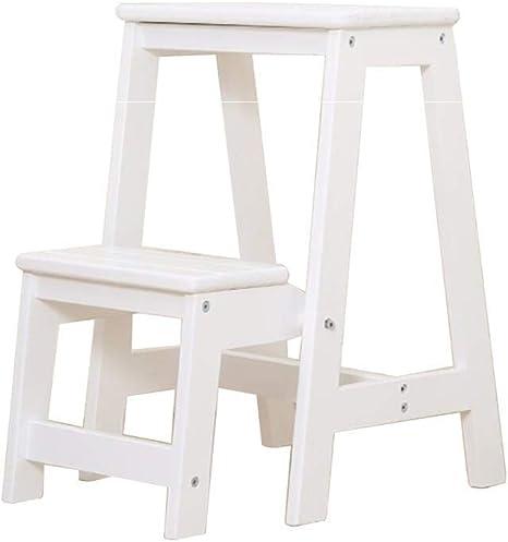 Zichen Escalera Escalera Escalera de 3 escalones Taburete plegable con peldaños Taburete escalonado de madera maciza Taburete plegable blanco, taburete, a: Amazon.es: Instrumentos musicales
