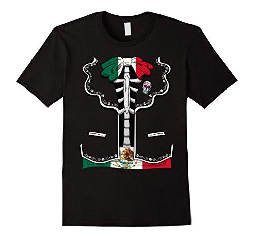 Mens Day Of The Dead Halloween Costume Dia de los Muertos T-Shirt 3XL Black -